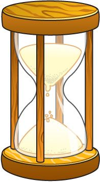 Hour Glass Fun Clipart #1.