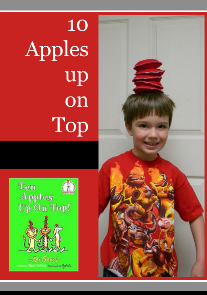 math and writing: ten apples up on top.