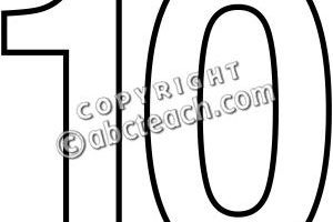Ten clipart black and white » Clipart Portal.