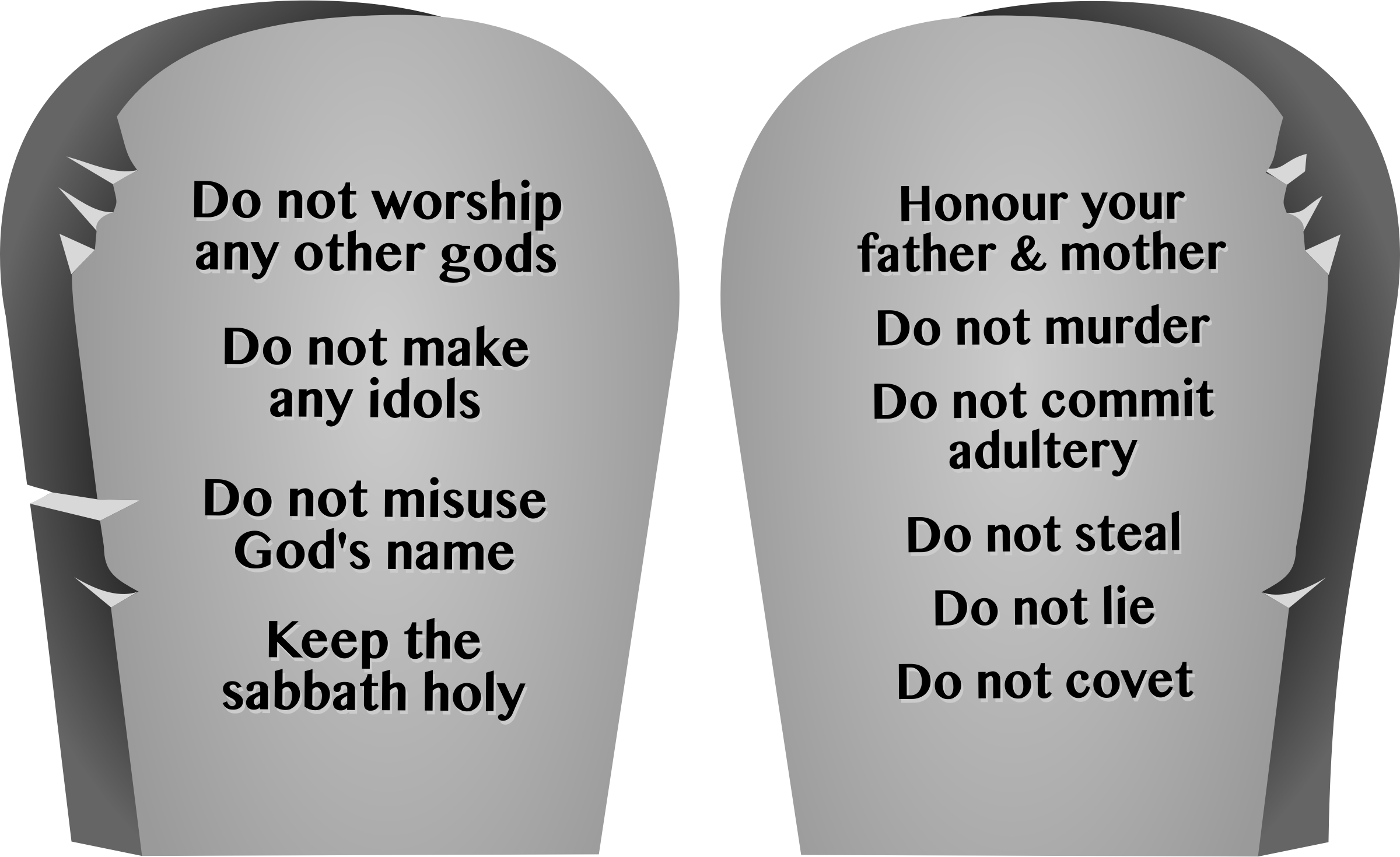 Ten commandments clipart clip art.