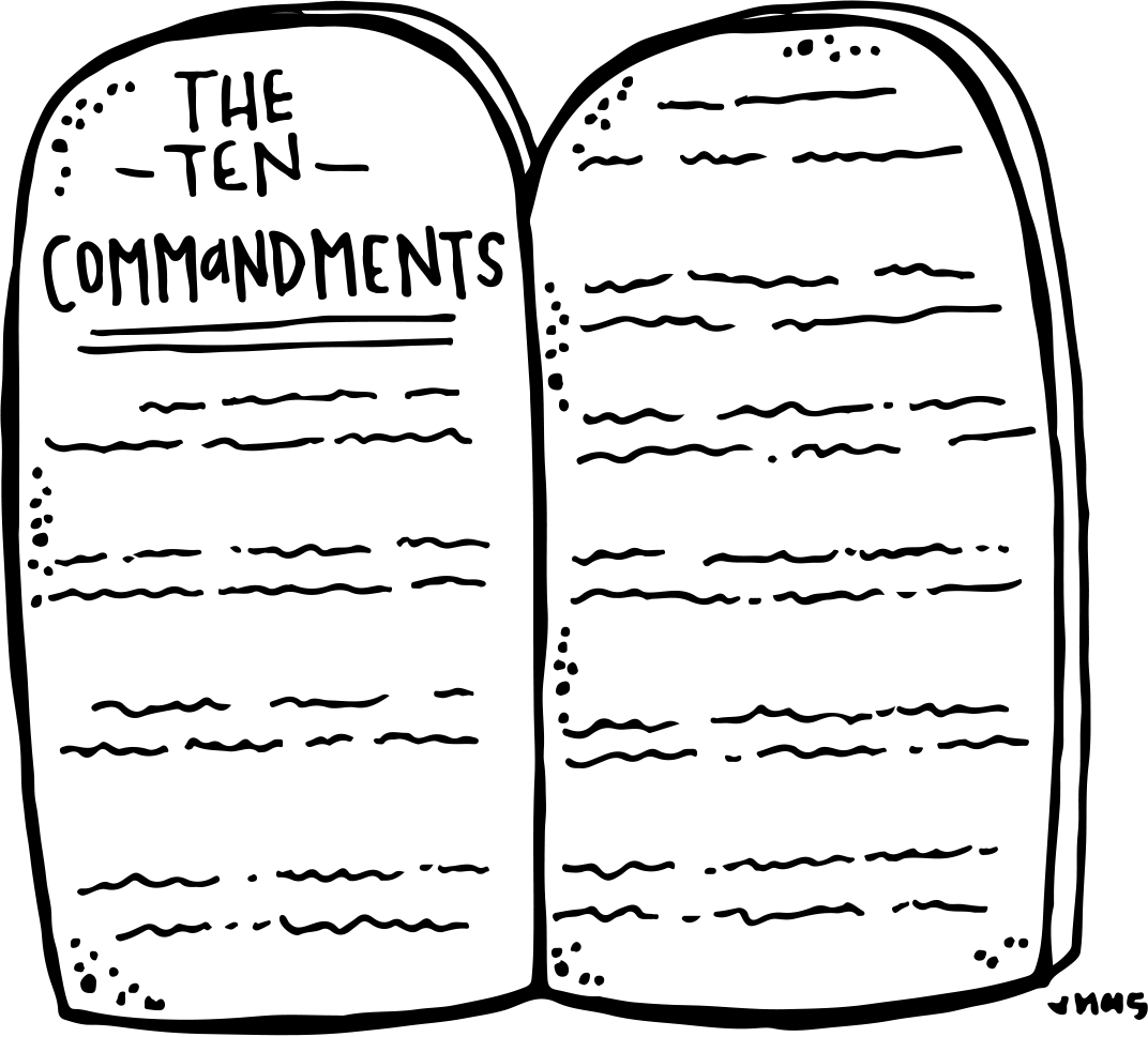 Melonheadz LDS illustrating: Ten Commandments Freebie.