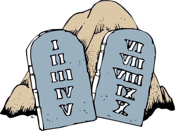 Ten Commandments Clipart.