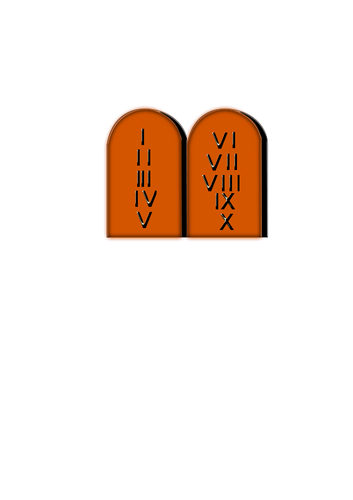 Ten Commandments vector clip art.