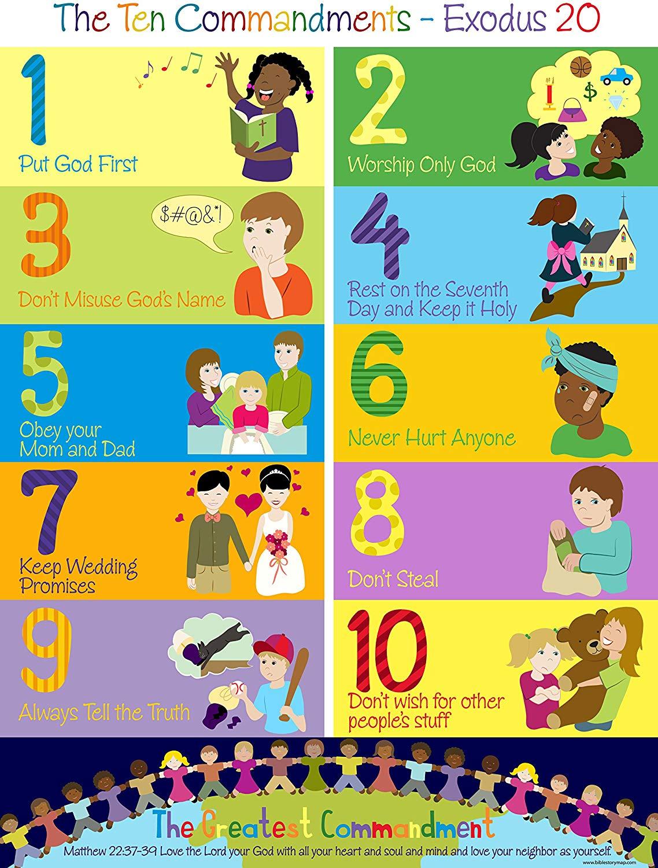 The Ten Commandments Poster for Kids (1, 17\