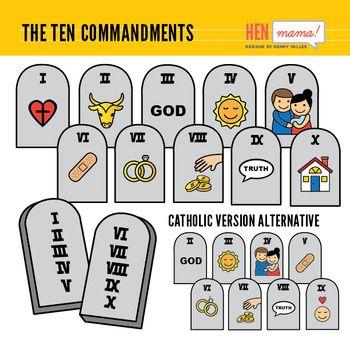 Ten commandments clipart old testament, Ten commandments old.