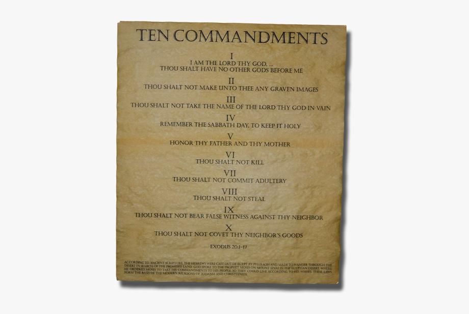 Ten Commandments Png.