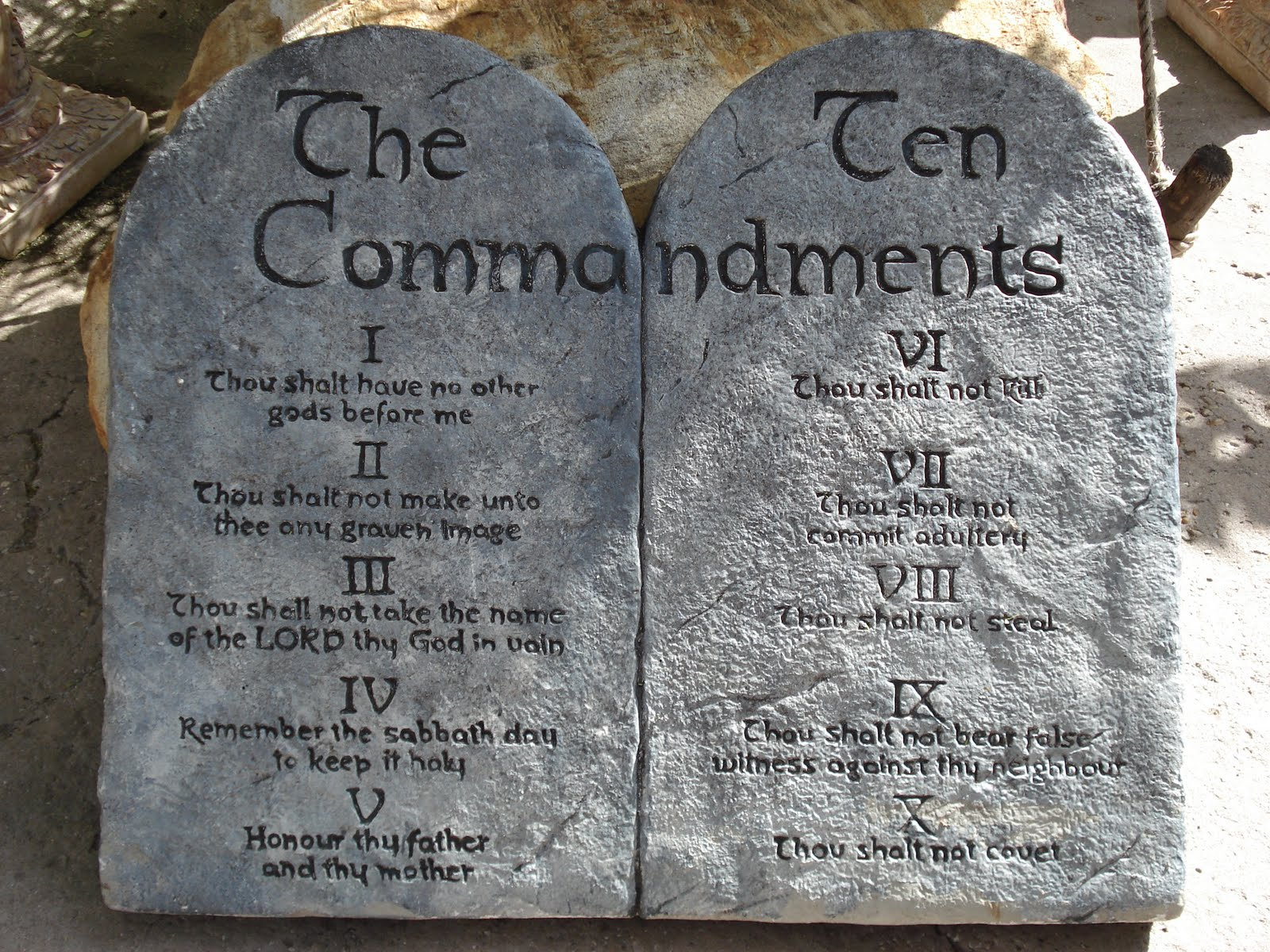 Ten Commandments Stone Tablets Clipart.