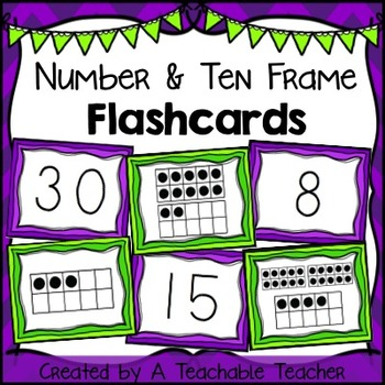 Number & Ten Frame Flashcards {1 to 30}.