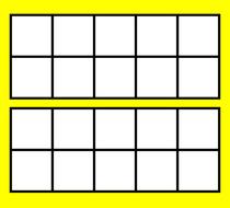 Clip Art: Ten Frame: Double Color.