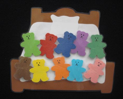 Ten in the Bed felt board template. Use the template of the.