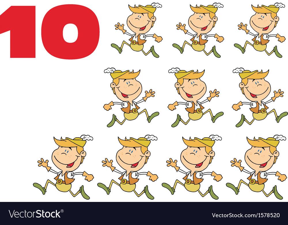 Ten lords leaping cartoon.