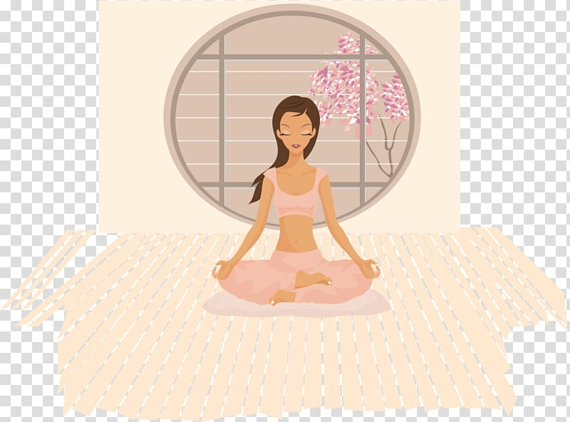 Yoga Woman Lotus position , a full 10 minute practice of.