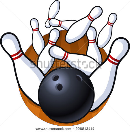 Five Pin Bowling Stock Images, Royalty.