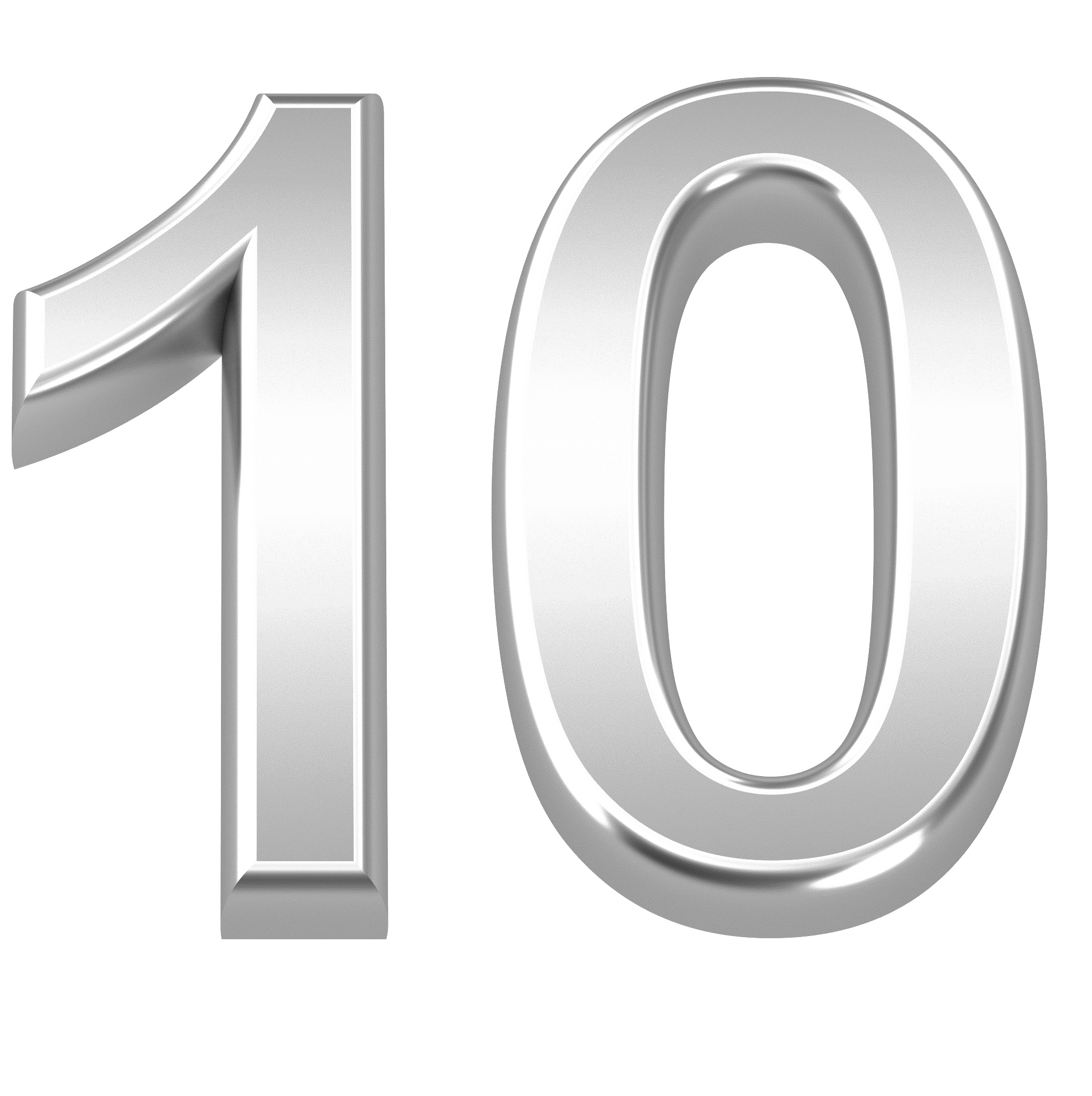 10 Number PNG Picture.