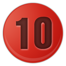 red number ten png image.