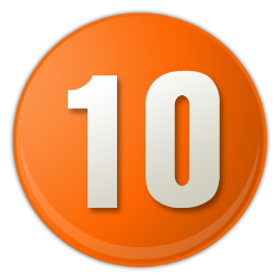 orange number ten png image.