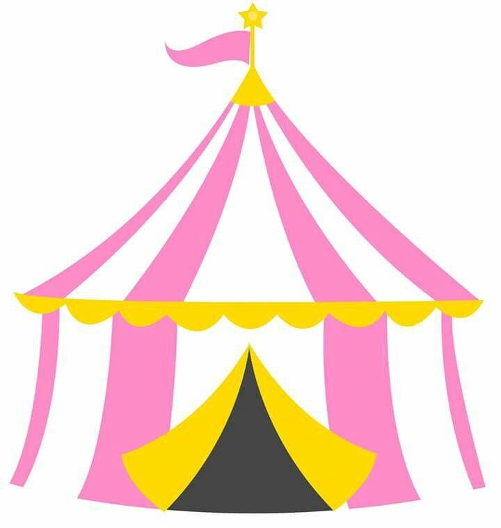 Tenda circo rosa.