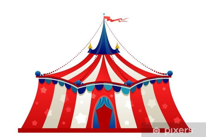 Carta da Parati in Vinile Tenda di circo tendone.