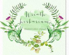 Olives Watercolor clip art hand drawn. Romantic wedding, light.