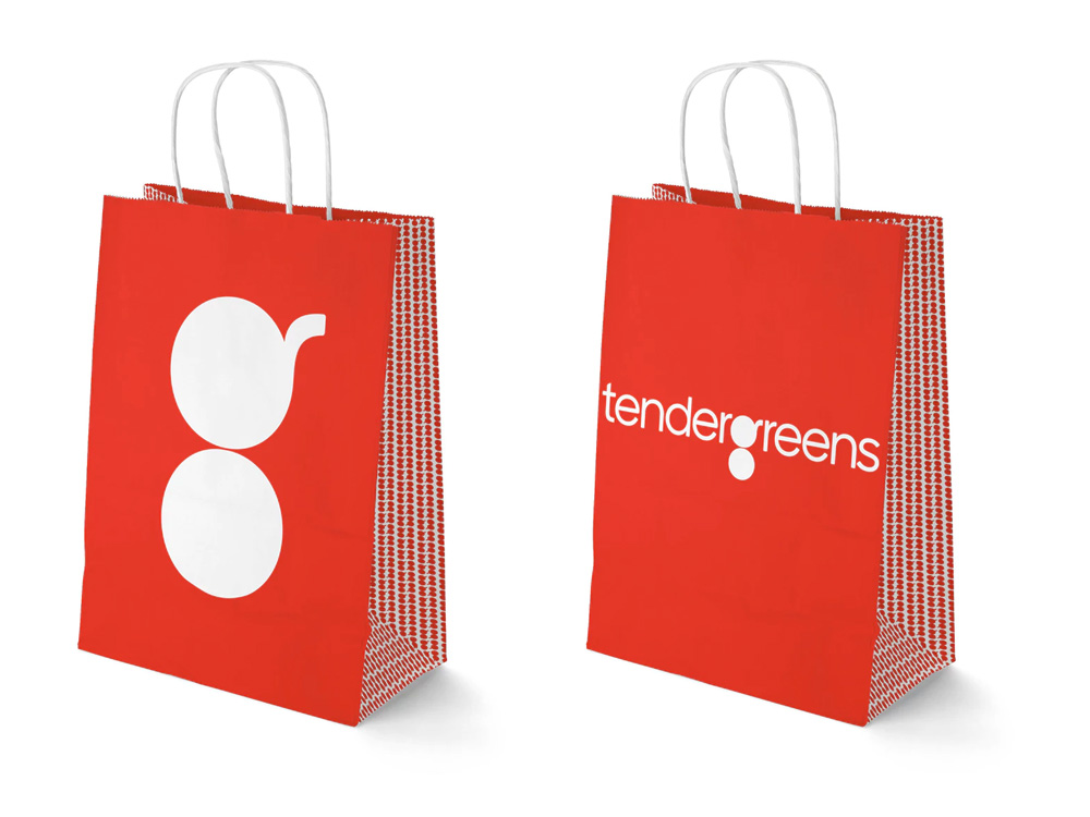 Brand New: New Logo and Identity for Tender Greens by Pentagram.