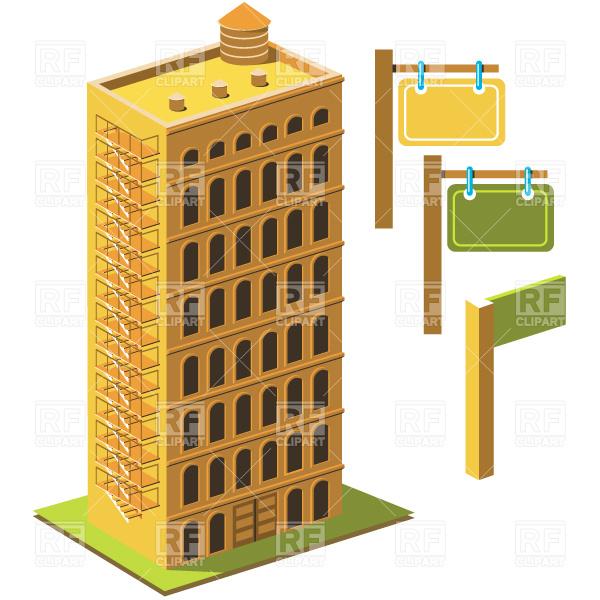 Tenement Vector Image #4626.