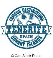 Clip Art Vector of Tenerife stamp.