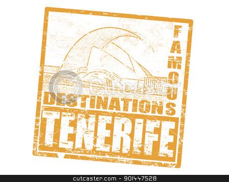 Tenerife stamp stock vector.