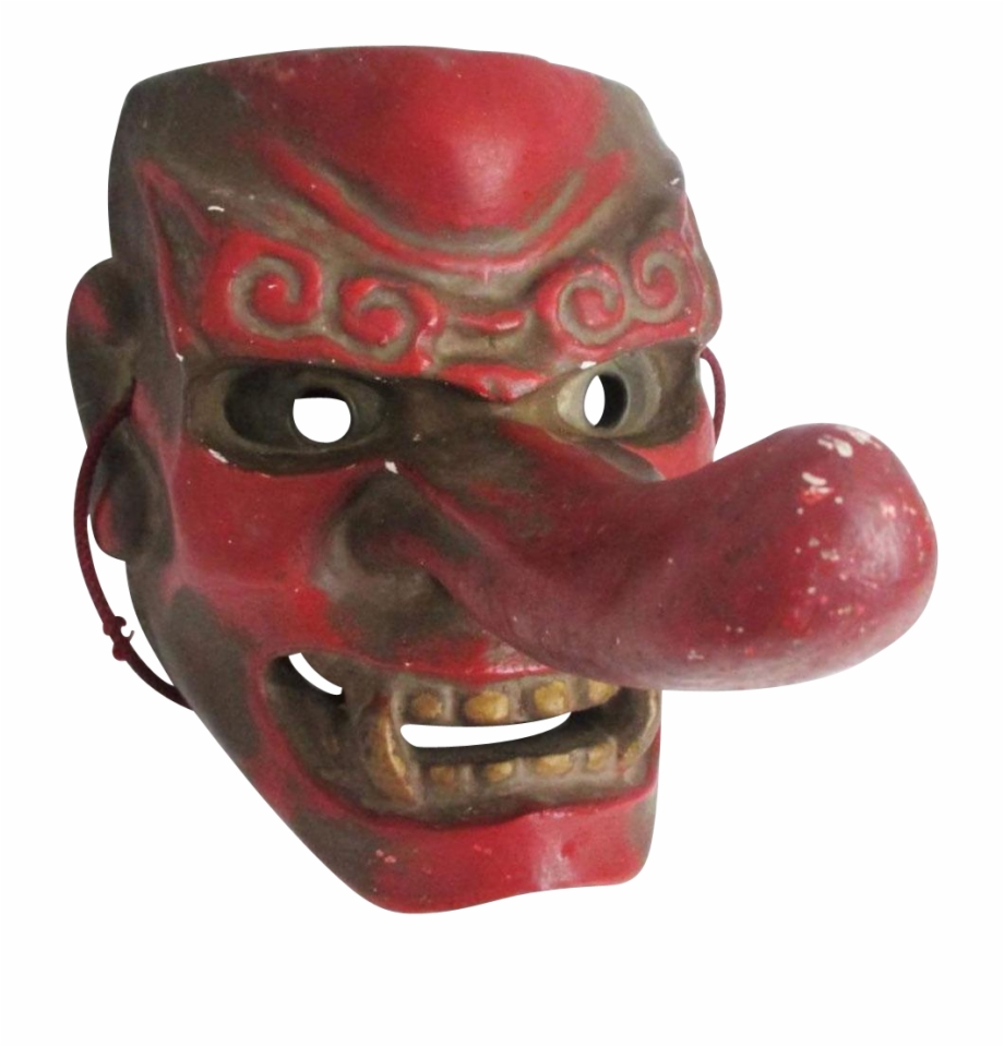 This Japanese Vintage Tengu 天狗 Mask Dates To The Early.
