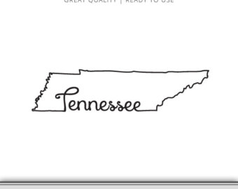 Tennessee State Outline Clipart.