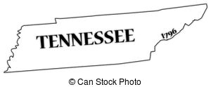 Tennessee Clip Art State Outline Silhouette.