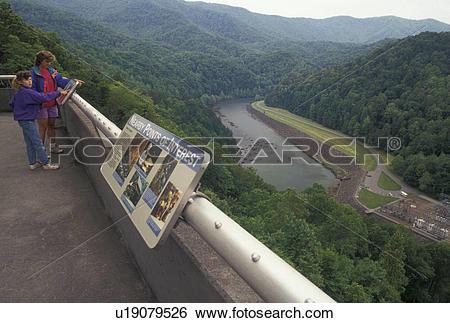 Stock Images of Fontana Dam, NC, North Carolina, Mother and.