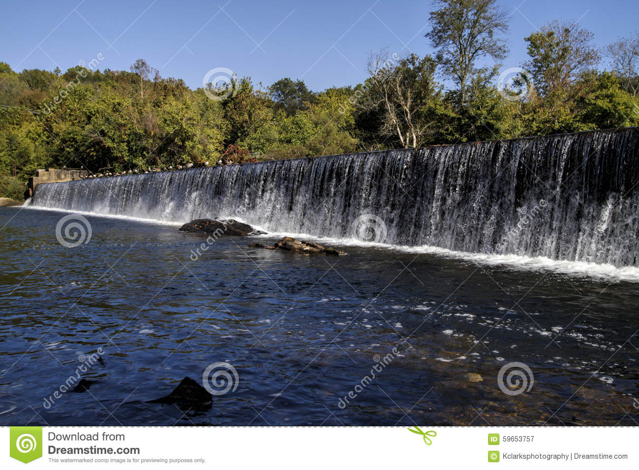 Tennessee Valley Authority Water Fall Stock Photo.