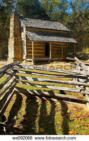 Pictures of John Oliver Cabin, Cades Cove, Great Smoky Mountains.