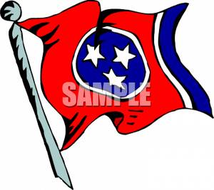 State Flag of Tennessee.
