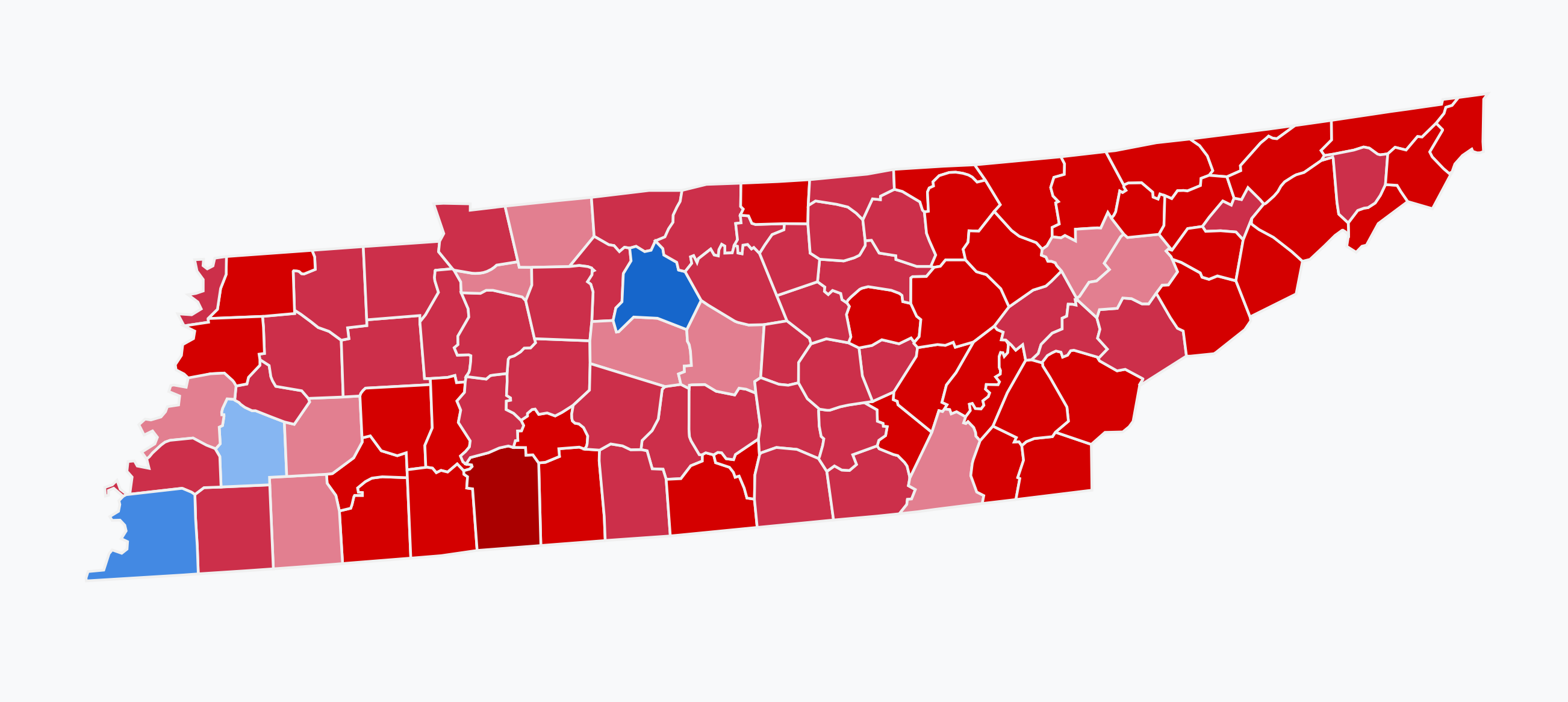 File:Results for the 2018 Senate election in Tennessee.png.