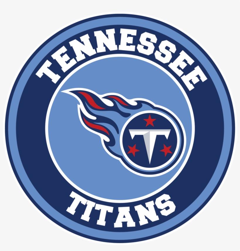 Tennessee Titans Circle Logo Vinyl Decal / Sticker.