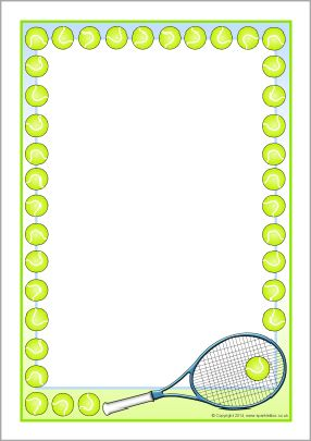 tennis border free clip art.