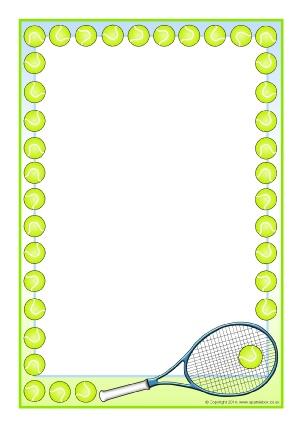 Badminton clipart border, Badminton border Transparent FREE.