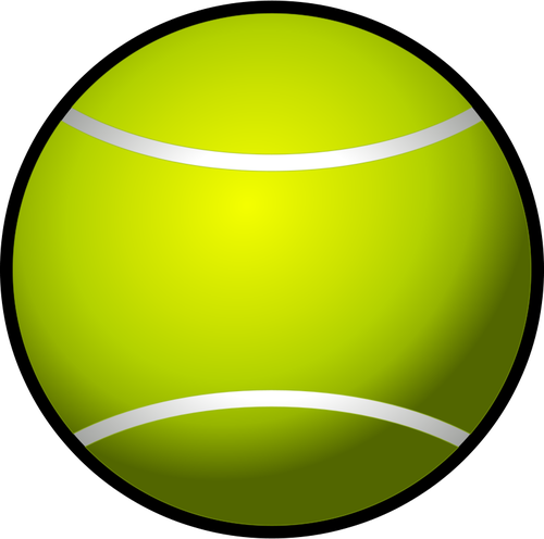 Tennis ball clip art vector image.