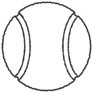 Tennis ball clipart black and white 2 » Clipart Portal.