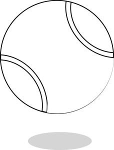 Tennis Ball Clipart Black And White.