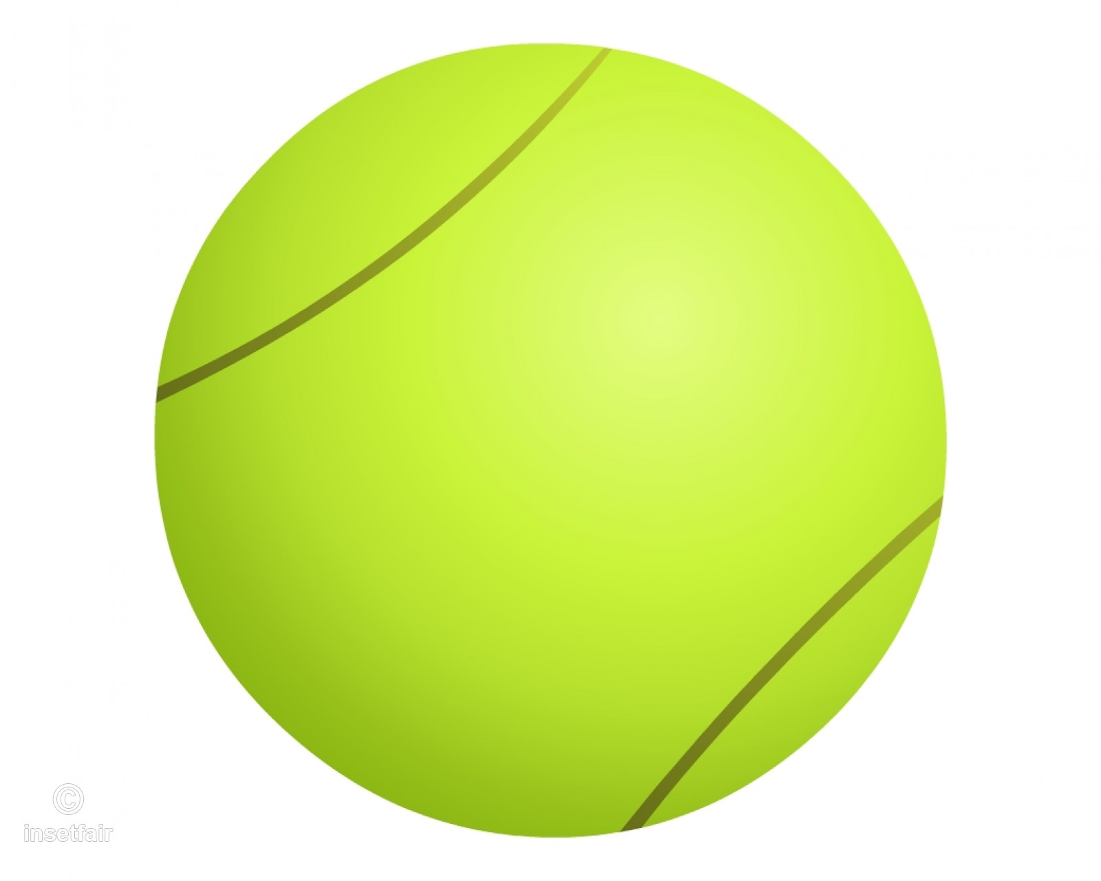 487 Tennis Ball free clipart.
