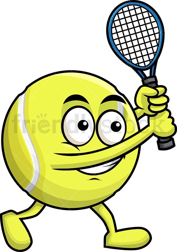 Tennis Ball Holding A Racket.