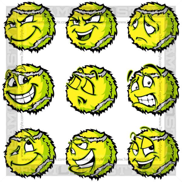 Sad Tennis Ball Clip Art.