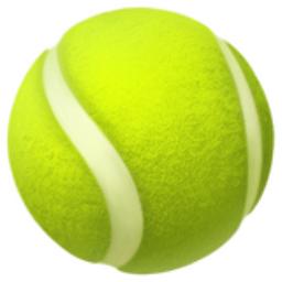 Tennis Emoji (U+1F3BE).