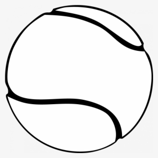 Free Tennis Black And White Clip Art with No Background.