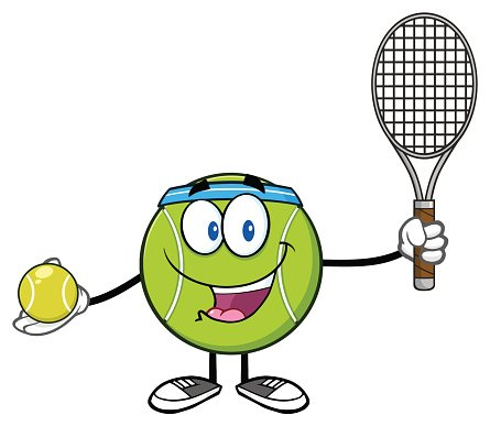 Tennis Ball Player Holding A Tennis Ball and Racket stock.