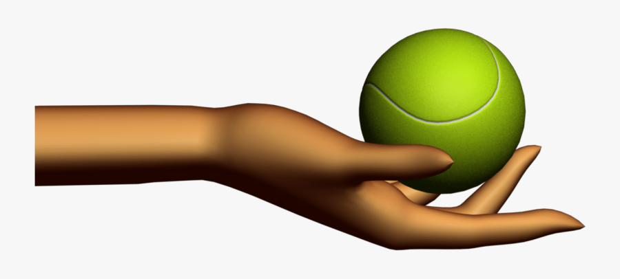 Hand Holding Tennis Ball .png , Free Transparent Clipart.