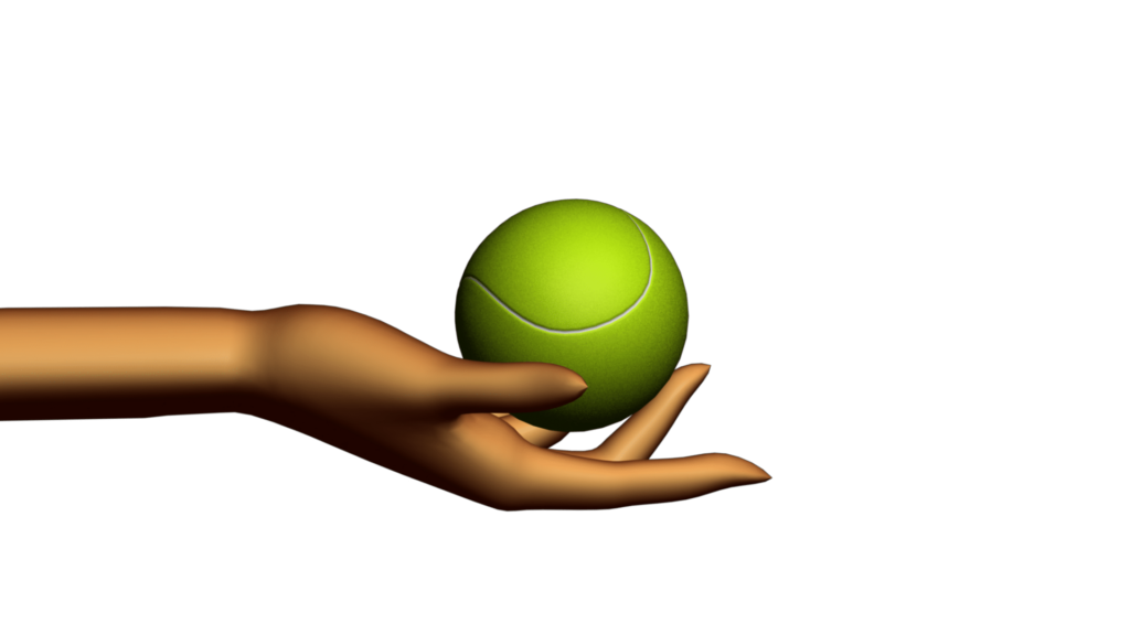 Sports Themed Video Clipart with Abstract Hand Holding.