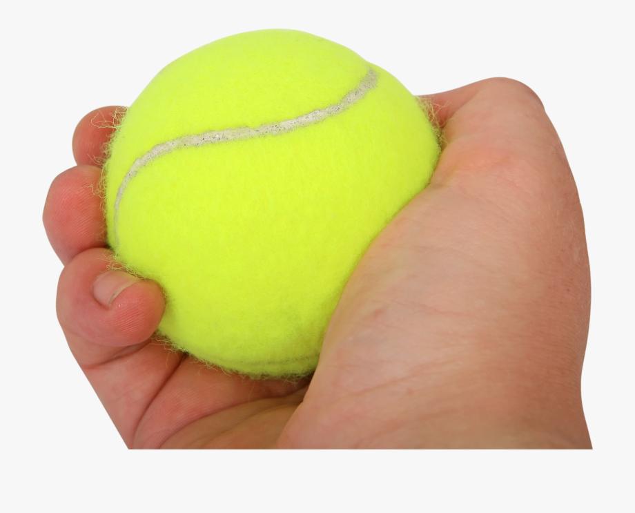 Tennis Ball In Hand , Transparent Cartoon, Free Cliparts.